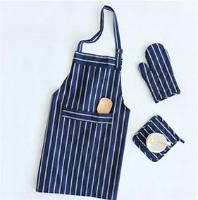 深蓝素色文艺餐巾餐垫围裙