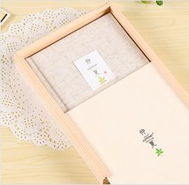 彩页木盒装日记本