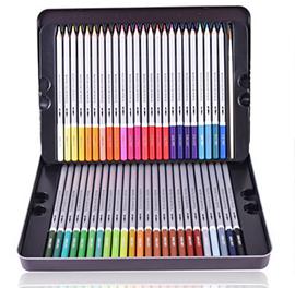 得力彩色铅笔24色
